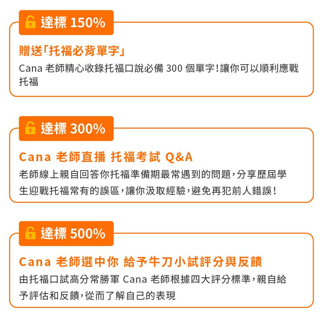 Cana 新制托福口試|備考攻略 - 募資達標