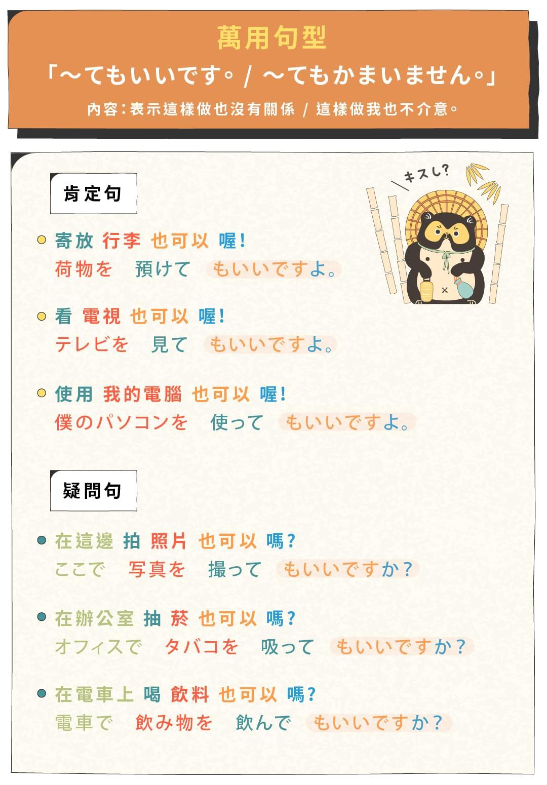 50 音的下一步:初級日文萬用句型課 - 萬用句型這樣學